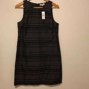 LOFT outlet black and white striped dress